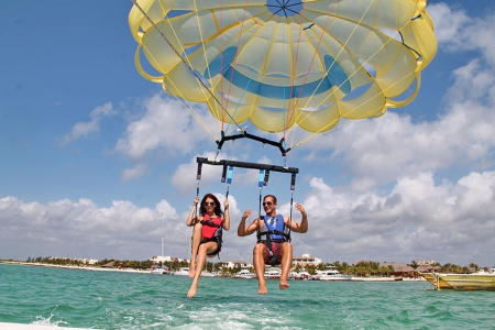 Parasailing at Maroma Adventures