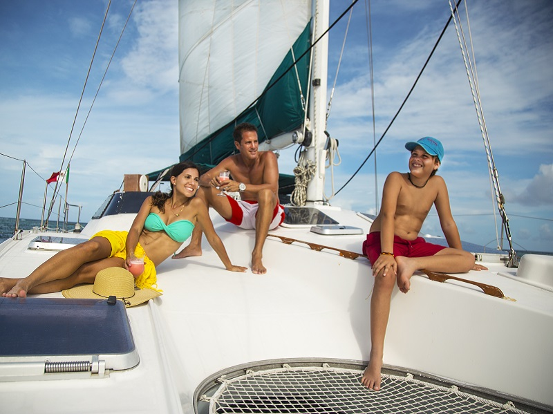Maroma Catamaran + Dolphin Swim Adventure